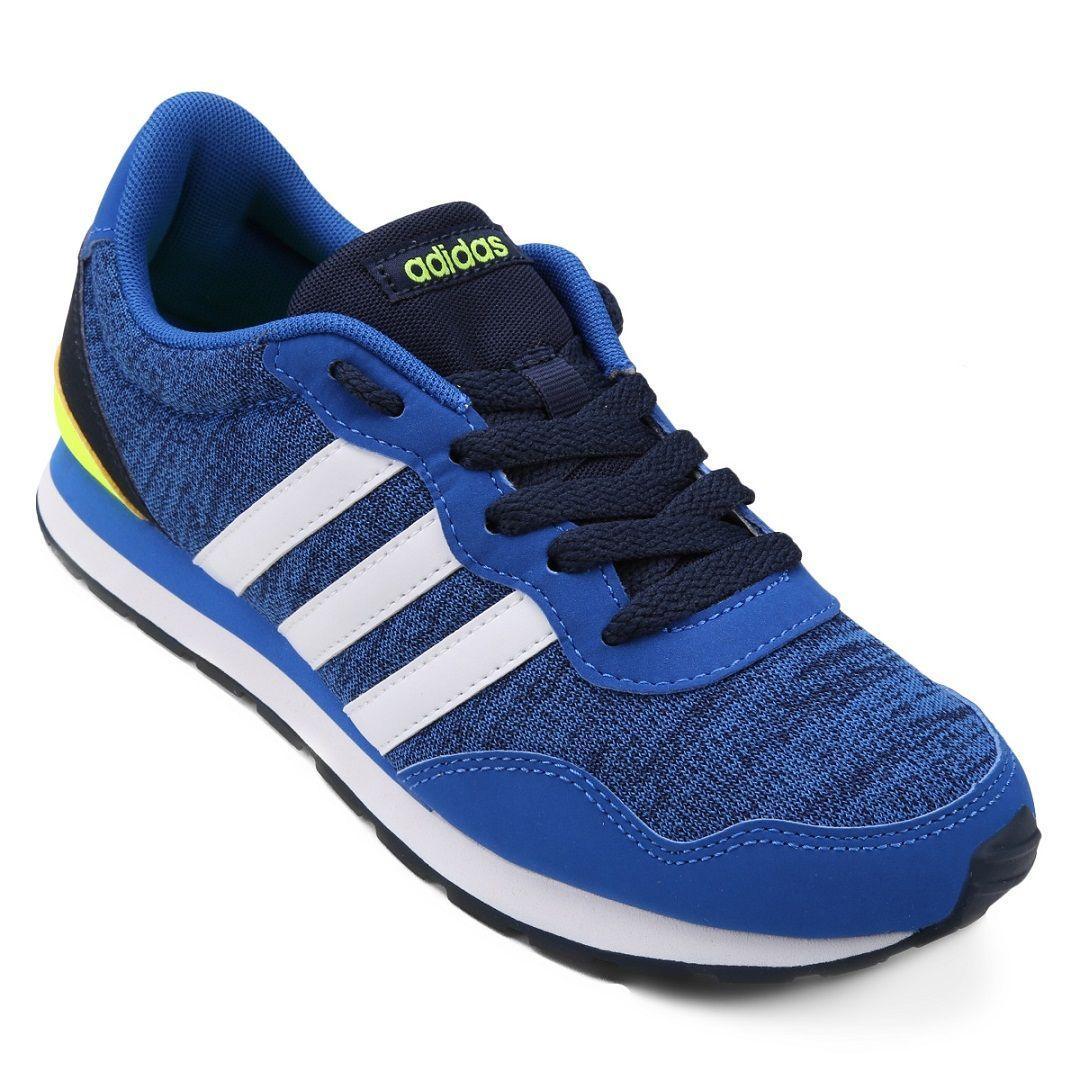 Tênis Adidas V Jog K Infantil / Azul