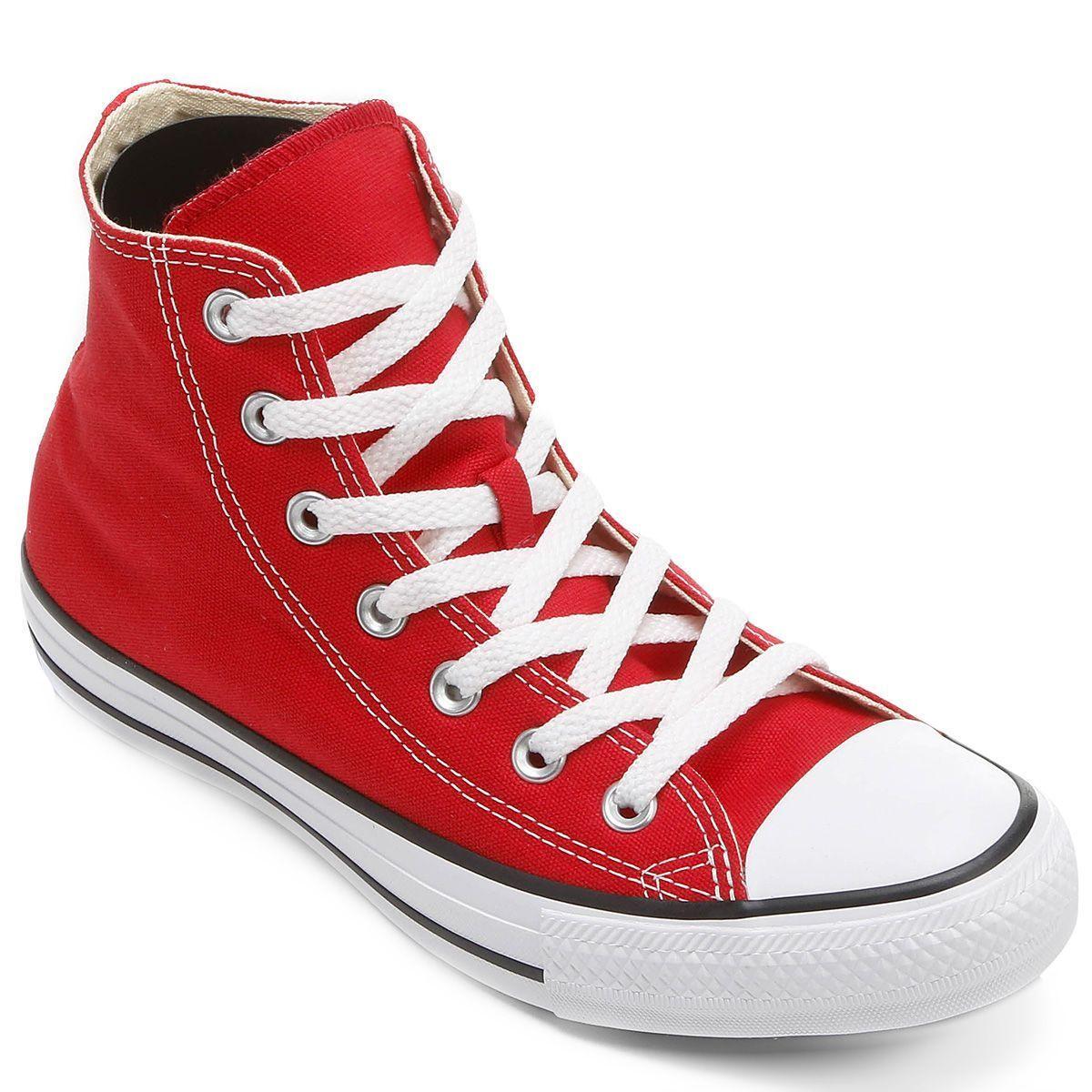 Tênis Cano Alto Converse Chuck Taylor All Star HI / Vermelho - Branco