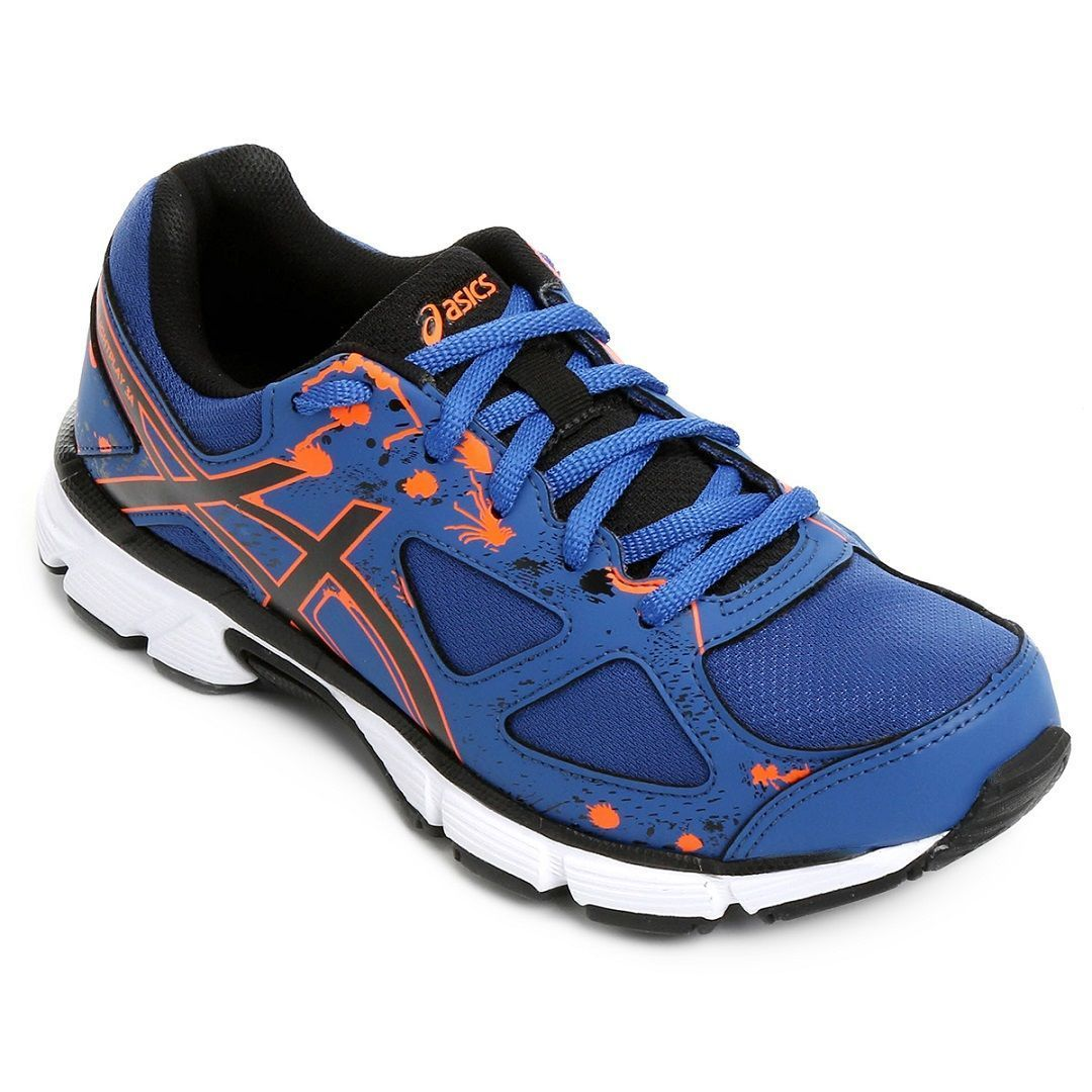 Tênis Asics Gel-Light Play 3 A Gs Infantil / Azul - Laranja