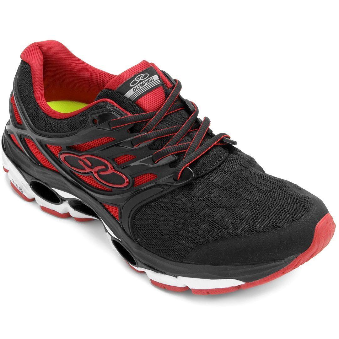 Tênis Olympikus Sprint / Preto - Vermelho