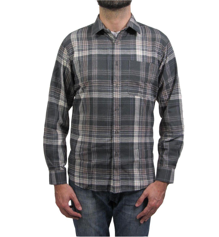 Camisa Flanela Xadrez - Vuzillo / Cinza